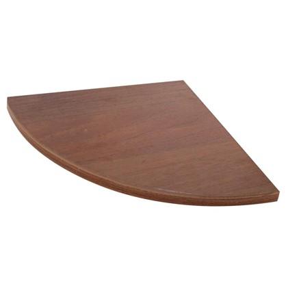 Полка мебельная закругленная секторальная 250x250x16 мм ЛДСП цвет орех темный