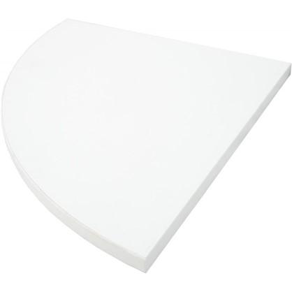 Полка мебельная закругленная секторальная 350x350х16 мм ЛДСП цвет белый премиум