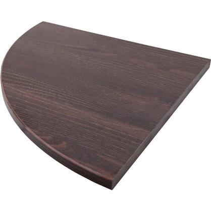 Полка мебельная закругленная секторальная 350x350х16 мм ЛДСП цвет дуб термо темный