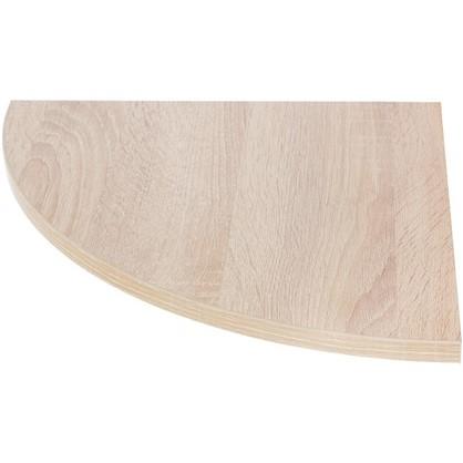 Полка мебельная закругленная секторальная 350x350x16 ЛДСП цвет дуб сонома