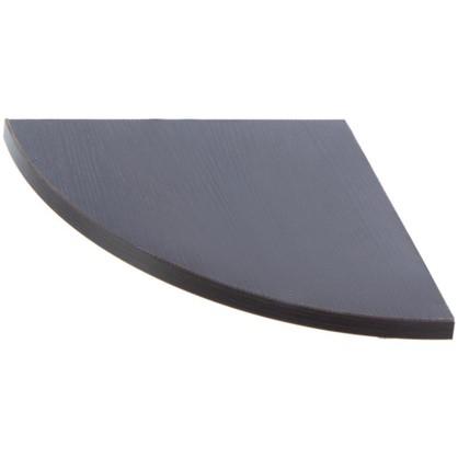Полка мебельная закругленная секторальная 350x350x16 мм ЛДСП цвет венге