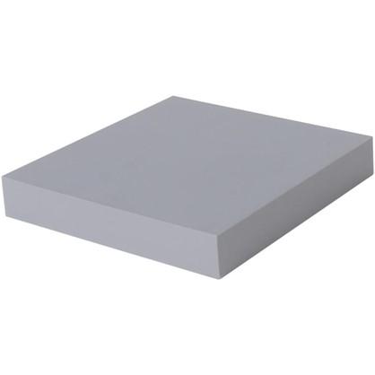 Полка прямоугольная 23х23 см МДФ сталь цвет серый