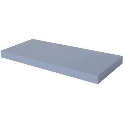 Полка прямоугольная 60х60 см МДФ сталь цвет голубой