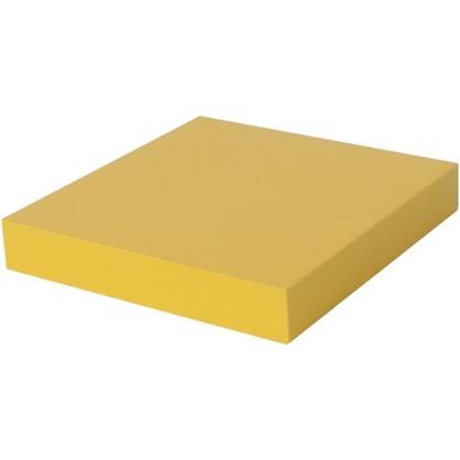 Полка со скрытым креплением Spaceo 230x235x38 мм МДФ цвет желтый