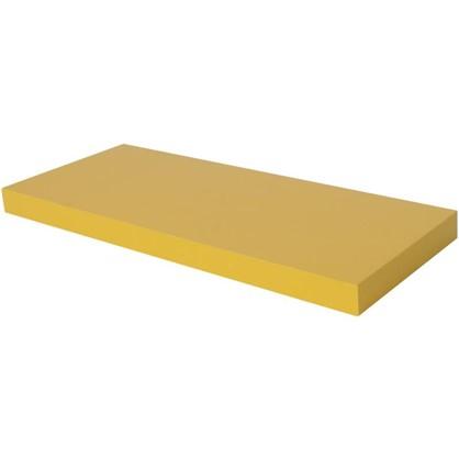 Полка со скрытым креплением Spaceo 800x235x38 мм МДФ цвет желтый