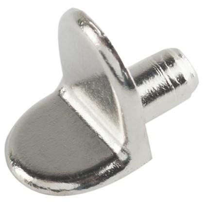 Полкодержатель мебельный Г-образный 5 мм металл цвет хром 4 шт.