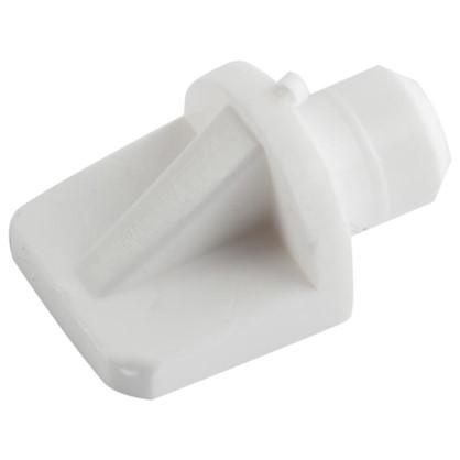 Полкодержатель мебельный лопатка 7 мм пластмасса цвет белый 16 шт.
