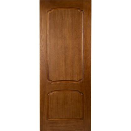 Полотно дверное глухое Helly 80x200 см шпон цвет тонированный дуб