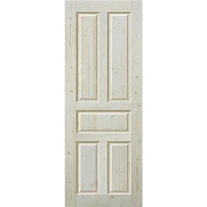 Полотно дверное глухое Кантри 60x200 см массив хвои цвет натуральный