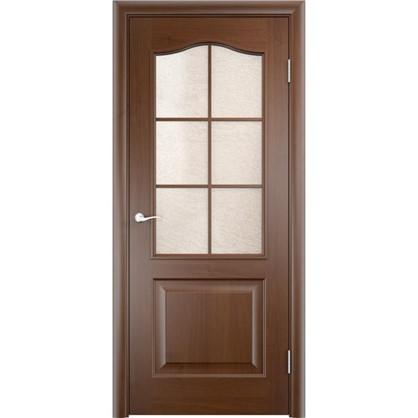 Полотно дверное остеклённое Антик 70x200 см ПВХ цвет дуб коньяк