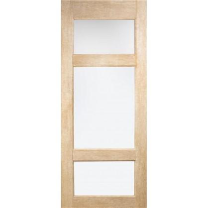 Полотно дверное остеклённое Антико 200х60 см цвет винтажный дуб