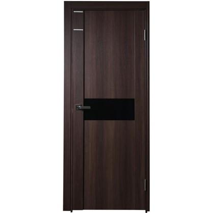 Полотно дверное остеклённое Artens Велдон 200x90 см цвет мокко