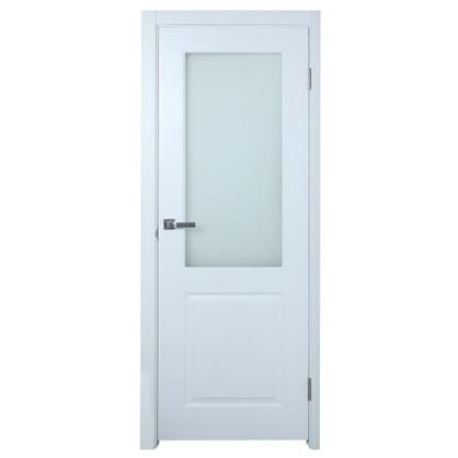 Полотно дверное остеклённое Австралия 200х60 см цвет белый