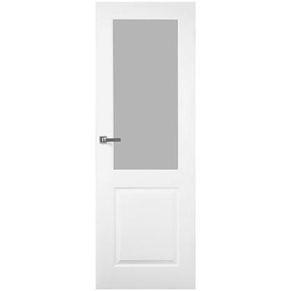 Полотно дверное остеклённое Австралия 200х70 см цвет белый