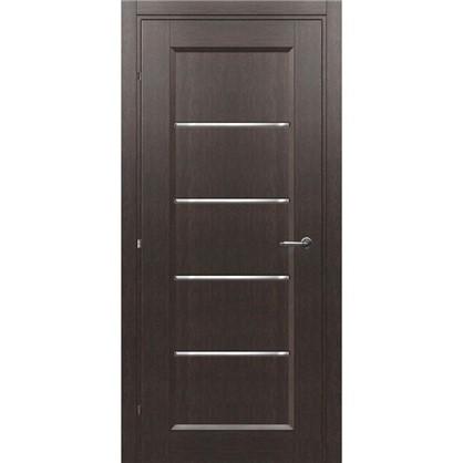 Полотно дверное остеклённое Candler 200х60 см цвет чёрный дуб