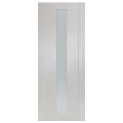 Полотно дверное остеклённое Фортуна 200х60 см цвет белый дуб