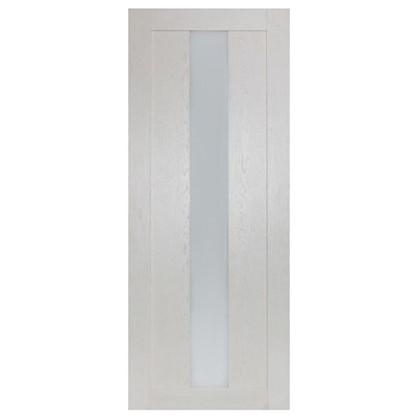 Полотно дверное остеклённое Фортуна 200х80 см цвет белый дуб