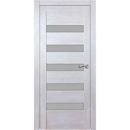 Полотно дверное остеклённое Лайн 200х70 см цвет дуб бриг