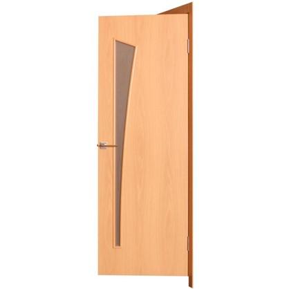 Полотно дверное остеклённое ламинированное Белеза 200х60 см цвет миланский орех