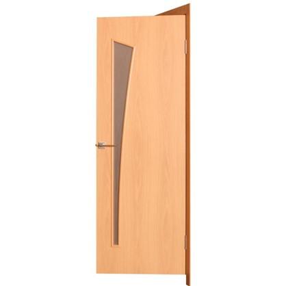 Полотно дверное остеклённое ламинированное Белеза 200х70 см цвет миланский орех
