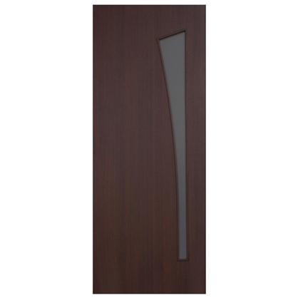 Полотно дверное остеклённое ламинированное Белеза 200x60 см цвет венге