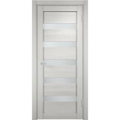 Полотно дверное остеклённое Мюнхен 80x200 см ламинация цвет слоновая кость 3D