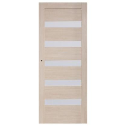 Полотно дверное остеклённое Ницца 60x200 см ПВХ цвет кремовый с фурнитурой