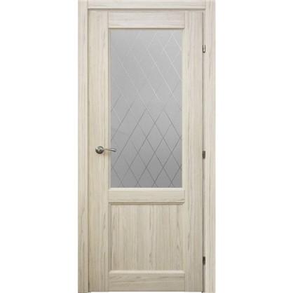 Полотно дверное остеклённое Пино 60x200 см CPL с фурнитурой