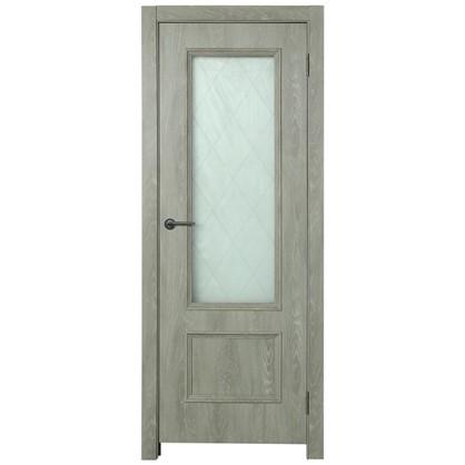 Полотно дверное остеклённое Престиж 200х80 см цвет дуб