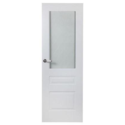 Полотно дверное остеклённое Роялти 200х80 см цвет белый