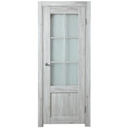 Полотно дверное остеклённое Рустик 200х80 см цвет северная сосна