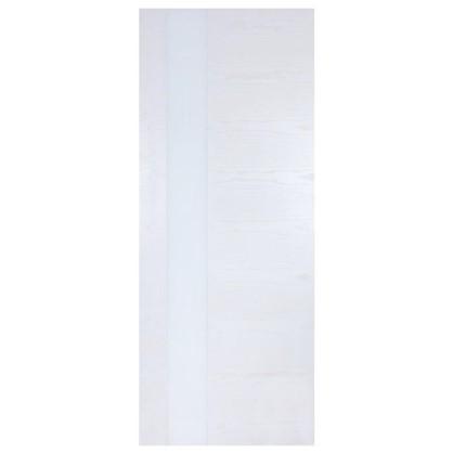 Полотно дверное остеклённое шпонированное Модерн 200х80 см цвет белый ясень