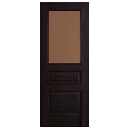 Полотно дверное остеклённое шпонированное Вельми 200х80 см цвет венге
