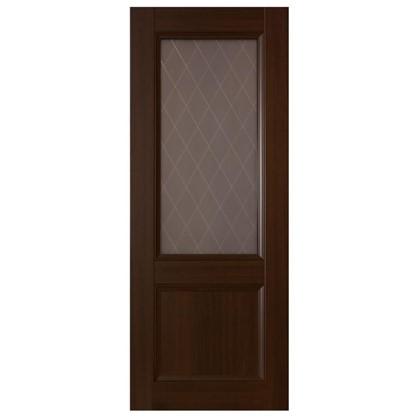 Полотно дверное остеклённое Танганика 200х60 см