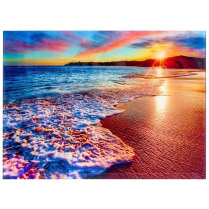 Постер на стекле 47х64 см Море в закате