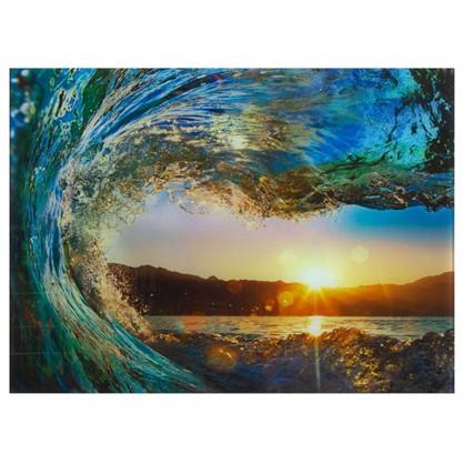 Постер на стекле 47х64 см Морской прибой