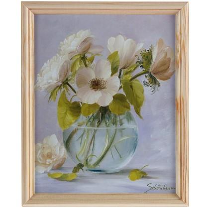 Постер в раме 20х25 см Цветы