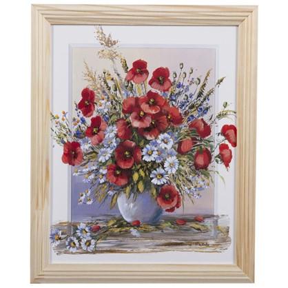 Постер в раме 20х25 см Полевые Цветы