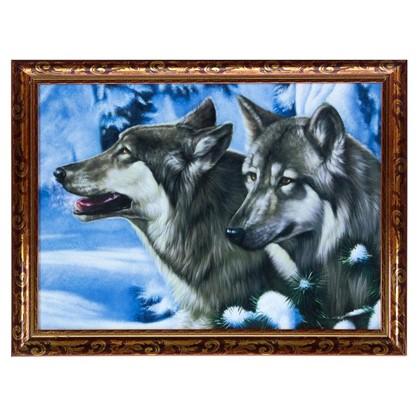 Постер в раме 30х40 см Братья волки