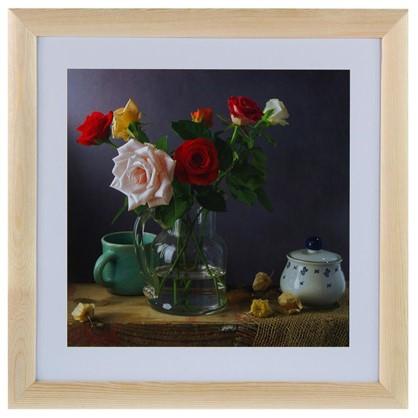 Постер в раме 40х40 см Розы