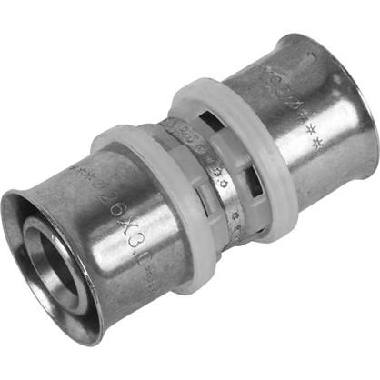 Пресс-муфта 26х26 мм никелированная латунь