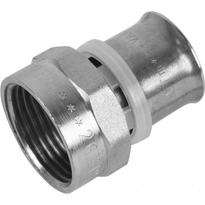 Пресс-муфта переходник внутренняя резьба 26х1 мм никелированная латунь