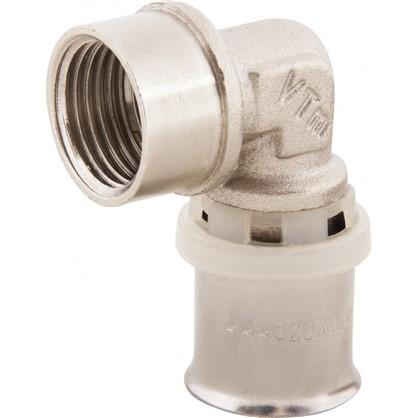 Пресс-угольник внутренняя резьба 20х1/2 мм никелированная латунь