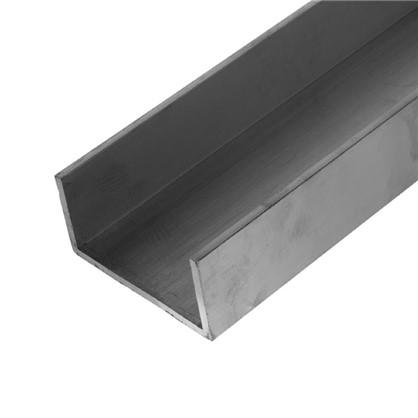 Профиль алюминиевый П-образный 50х100х50х5x2000 мм