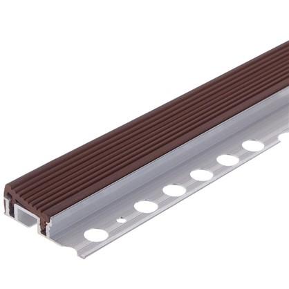 Профиль для ступени 250 см цвет коричневый