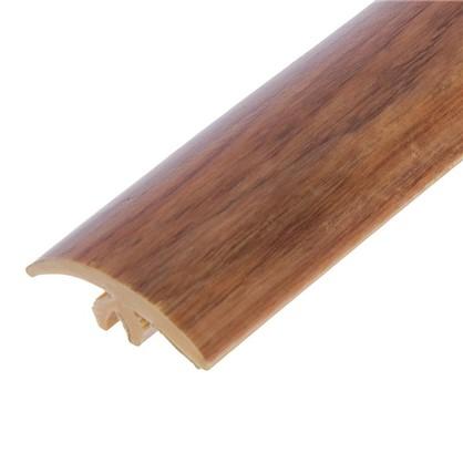 Профиль напольный гибкий 3 м цвет орех