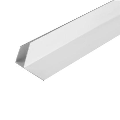 Профиль ПВХ F-образный для панелей 8 мм 3000 мм цвет белый