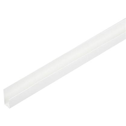 Профиль ПВХ стартовый/финишный Т8/10 мм 3 м цвет белый