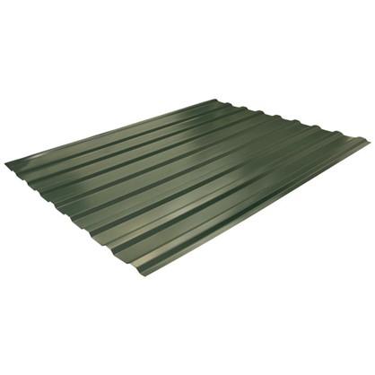 Профнастил С20 1.14x2 м с полиэстеровым покрытием 035 мм цвет зелёный