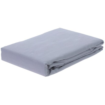 Простыня двуспальная PEARL BLUE сатин 210х220 см